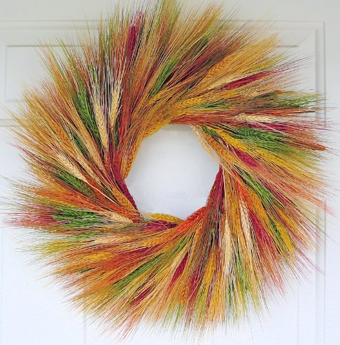 Mixed Fall Wheat Wreath