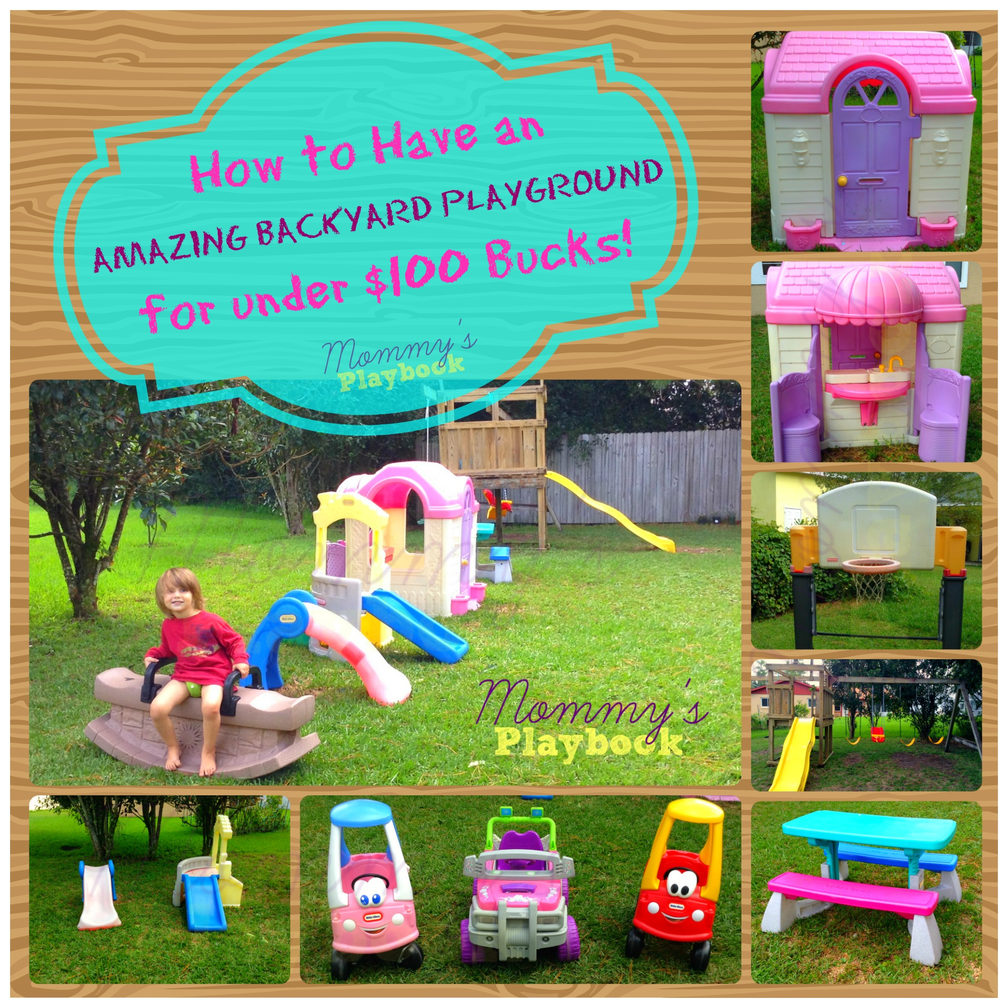 Cheap Backyard Play Area - Mommy's Playbook