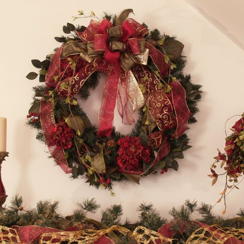 Burgundy Pine Wreath