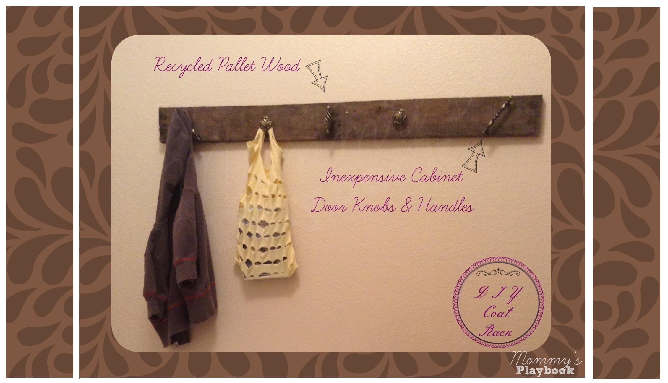 DIY Wall Coat Rack -
