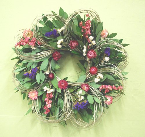 Larkspur and Loops Wreath