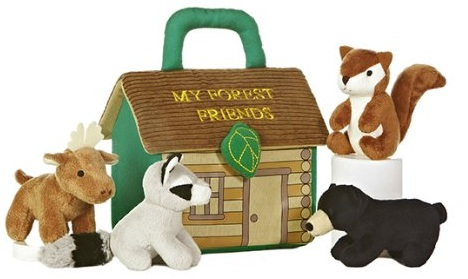 Plush Cabin and Animals