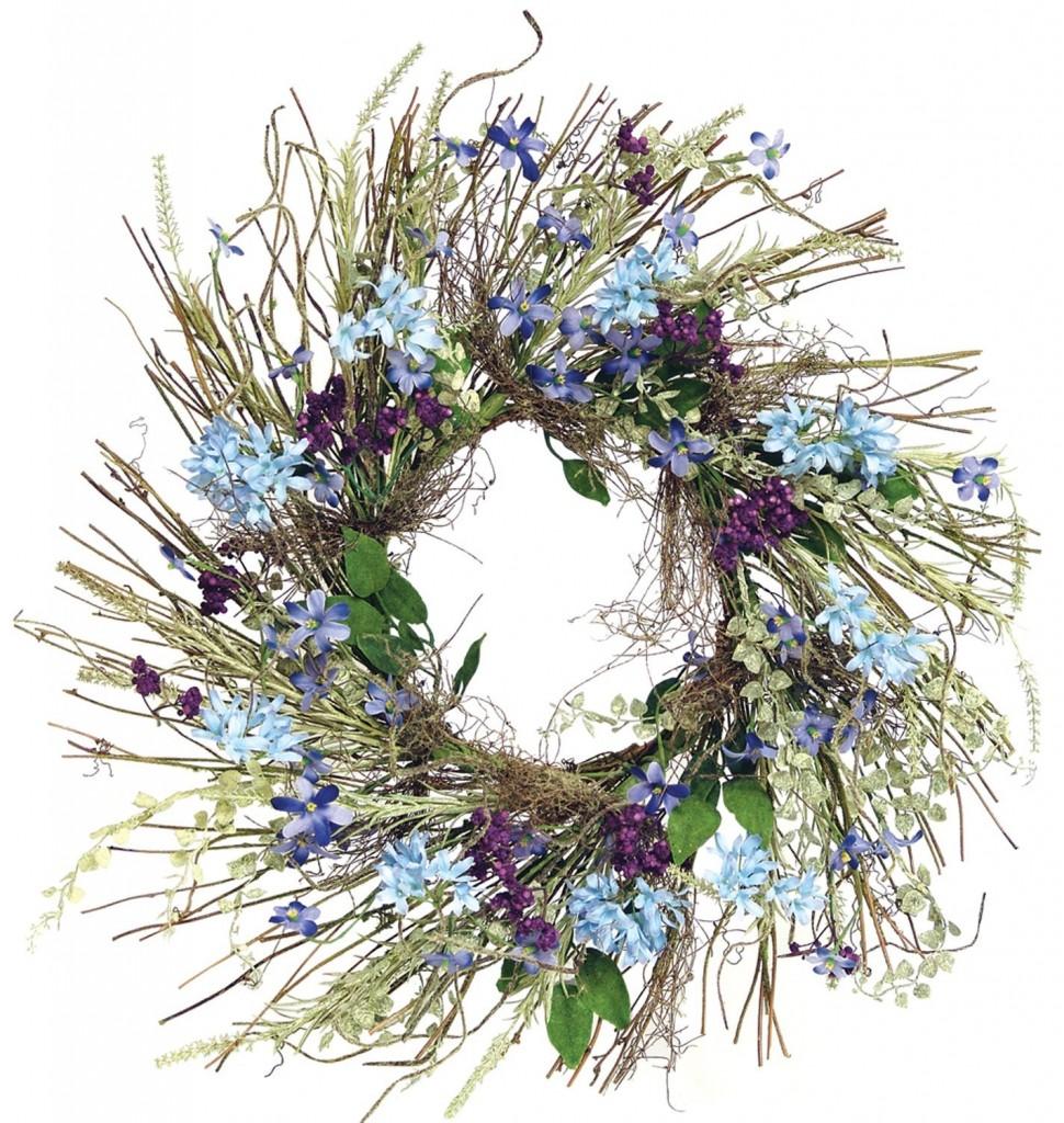 Wispy Twig Lilic Wreath