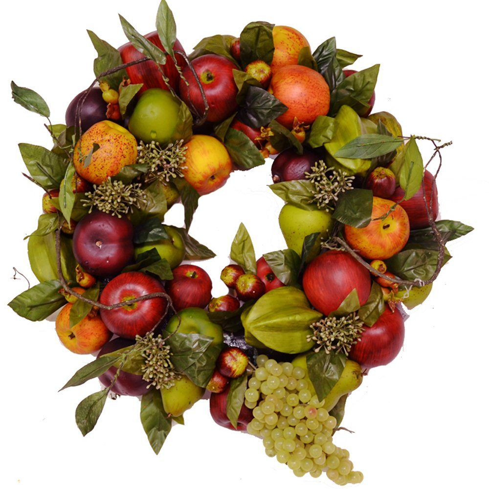 10 thanksgiving wreaths simply sherryl for Artificial pomegranate decoration