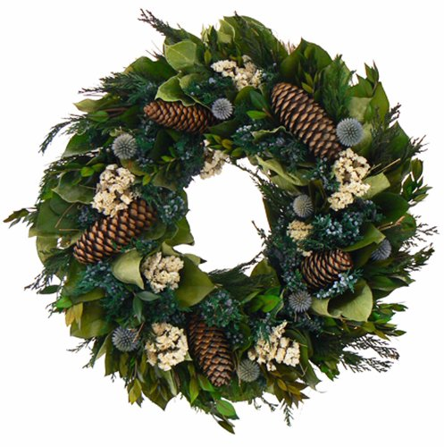 christmas wreath pinecone wreath
